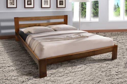 Кровать двуспальная деревянная Star (Стар) Микс мебель 160х200, цвет коньяк