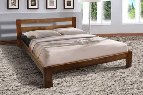 Кровать двуспальная деревянная Star (Стар) Микс мебель 160х200, цвет коньяк, фото 2