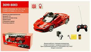 Машинка на аккумуляторе для детей 3699-8003, открывающиеся двери, пульт, регулятор скорости, 18х12х7см