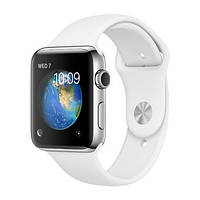 Apple Watch Sport 42mm Series 2 Silver Aluminum Case with  Sport Band white