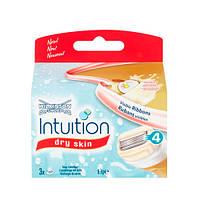 Wilkinson Sword Intuition dry skin сменные картриджи 3 шт в упаковке