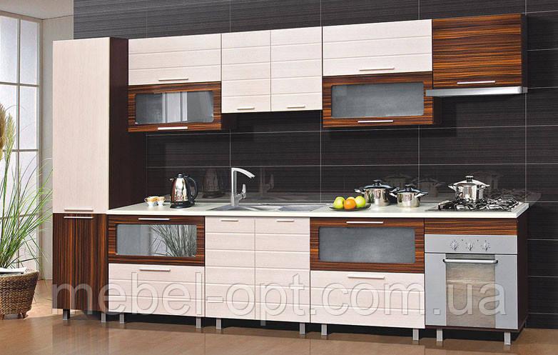 Недорогой кухонный гарнитур Терра, выбор элементов кухни самостоятельный