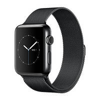Apple Watch Series 2 42mm Space Black Stainless Steel Case with Space Black Milanese Loop Band