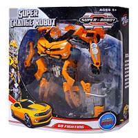 Робот трансформер игрушка 3-9: оружие, простое превращение, коробка 29х12х31 см