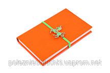 """Ежедневник 12х19 см., 142 страницы """"Лошадь"""" оранжевый"""