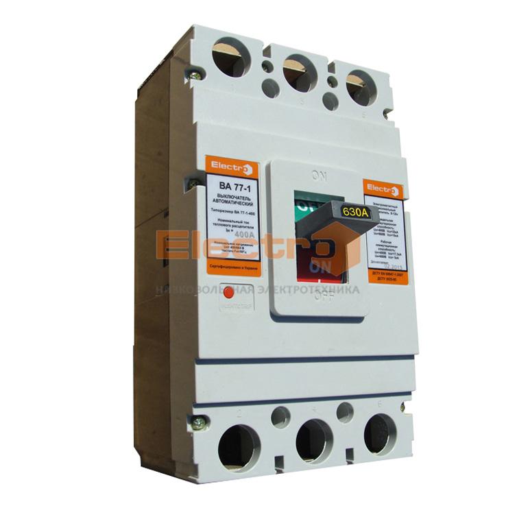 Автоматический выключатель ВА77-1-630 3 полюса 500А Icu 35кА 380В