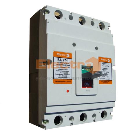 Автоматический выключатель ВА77-1-800 3 полюса 800А Icu 50кА 380В, фото 2