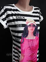 Молодежные летние тунички с рисунком, фото 1