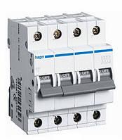Автоматический выключатель Hager 4П 6А тип С MC406A