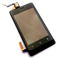 Дисплей Sony ST27i (Xperia Go) с сенсорным экраном и рамкой (черный)