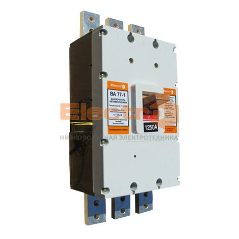 Автоматический выключатель ВА77-1-1600 3 полюса 1600А Icu 65кА 380В с електроприводом+доп.контакт, фото 2