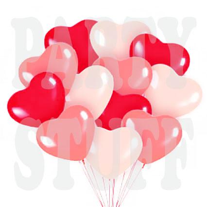 воздушные шарики сердца