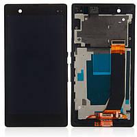 Дисплей Sony C6603/C6602/C6606/C6616 (Xperia Z) LT36 с сенсорным экраном и рамкой (черный)
