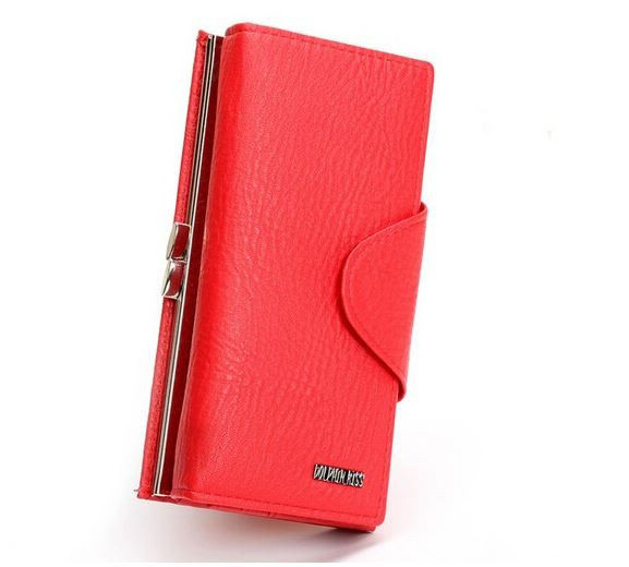 Красный  кошелек женский