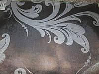 Ткань  блэкаут    катрин  завиток №18  серый+серебро
