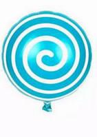 Шар фольга Лолли-поп аквамарин