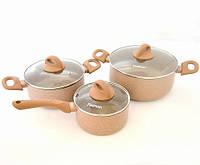 Набор посуды 6 пр. со стеклянными крышками LATTE