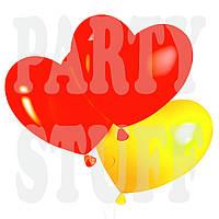 """Воздушные шарики Сердца Пастель Ассорти 10"""" Gemar (26 см), 100 шт"""