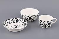 """Детский набор посуды на 1 персону """"Корова"""""""