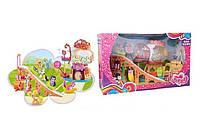 Игрушка для девочек «Май Литл Пони» 729: фигурки пони, горка, домик, аксессуары, коробка 65х36х16 см