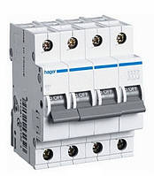 Выключатель автоматический 4П, 50А, характеристика С, Hager MC450A