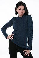 Вязаный зимний свитер женский