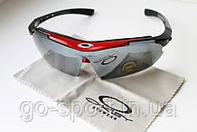 Велосипедные очки OKLEY red