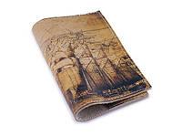 Винтажная обложка на паспорт -Старинная карта