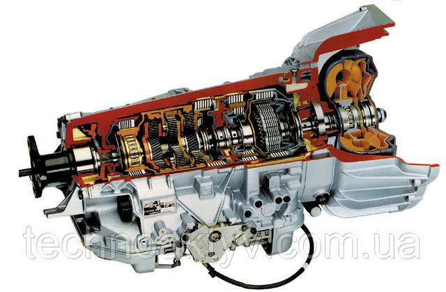 Гидротрансформатор и коробка передач в сборе (узнать больше о принципе работы транформатора)