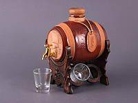 """Набор для спиртных напитков 0,75 л. 4 стопки """"Боченок"""""""