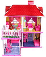 Игрушечный домик Барби 6980: 2 этажа, мебель, аксессуары, 2 варианта сборки, 25,5х83,5х70 см