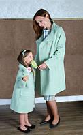 Изысканный набор пальто мама и дочка длинный рукав