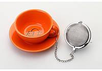 Подставка под чайные пакетики с металлическим фильтром (оранжевый)