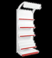 Торговый металлический стеллаж книжный  2350х750х530