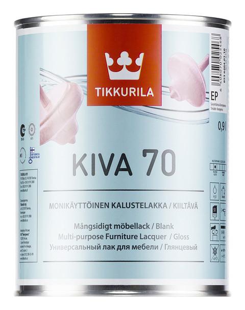 Лак меблевий Ківа Tikkurila 0,9л глянцевий