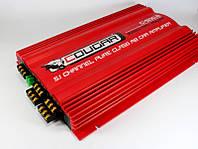 Усилитель звука для автомагнитолы CAR AMP 500.6: 2х1500 Вт, сигнал/шум 74 дБ, металл, 225х250х52 мм