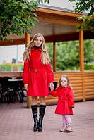 Изумительный набор пальто мама и дочка длинный рукав