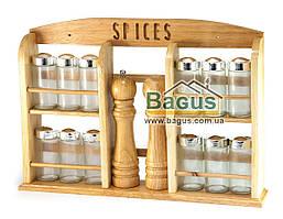 """Набор для специй (спецовник) подвесной на деревянной подставке 44х31х7см Besser """"Spices"""" (10123)"""