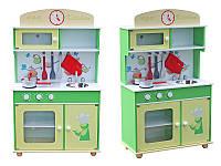 Деревянная кухня для детей Frogi + набор посуди