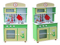 Дерев'яна кухня для дітей Wooden Toys Frogi + набір посуди