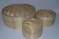 """Вонтонница бамбукова з кришкою 10"""" (24см внутр.) Китай"""