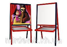 Детский мольберт Маша и Медведь Эко