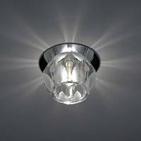 Светильник встраиваемый Feron JD161 под лампу G9 прозрачный матовым хром