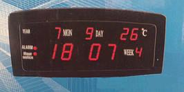 Часы -будильник настольные светодиодные 909-1(красная подсветка)   .dr