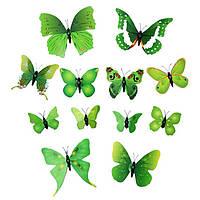 Интерьерная настенная наклейка «Бабочки» зеленые