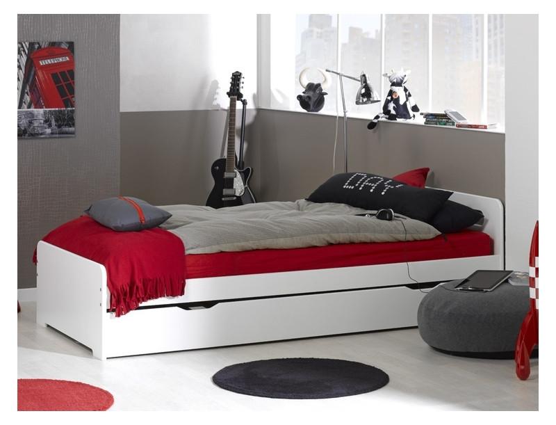 Кровать для подростка Junior Provence Lit Gigogne Feroe Blanc