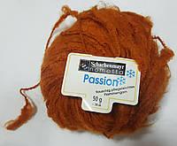Нитки для вязания шерсть акрил пряжа Оранжевая