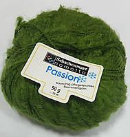 Нитки для вязания шерсть акрил пряжа Зеленая
