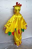 Детский костюм для мальчика Петушок №3 (атлас) рубашка с капюшоном, штаны