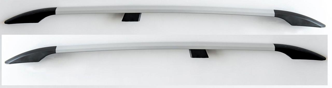 """Рейлинги Fiat Doblo 2000-2010, короткая база  Тур. тип - Premium, Пластиковые ножки, цвет """"Серый металлик"""""""